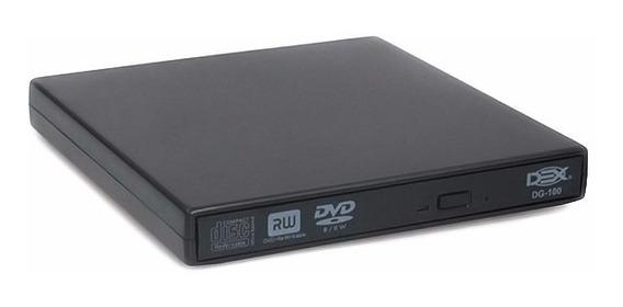 Gravador Dvd Externo Portátil Slim Gravação/leitura Cdrw/dvd