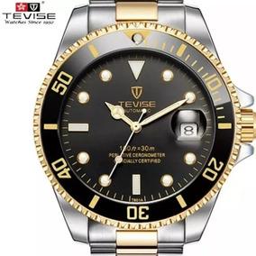 Relógio Automático Tevise Prata E Dourado (sem Caixa)