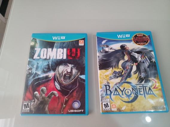Zombiu + Bayonetta Box Duplo Jogo 1 E 2 Para Wiiu Americano