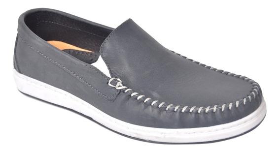 Zapato Mocasín Cuero Vacuno Hombre Hopper 1975 Horma Chica