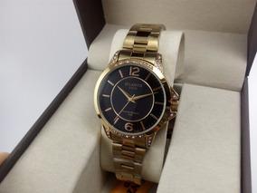 Relógio Atlantis Gold Feminino Em Aço Dourado