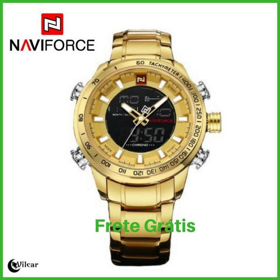 Naviforce 9093 Relógio Negocial Masculino Original