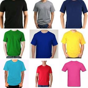 e9512eac94 Camiseta Coloridas Lisa 100% Algodão Fio 30 Promoção Atacado ...