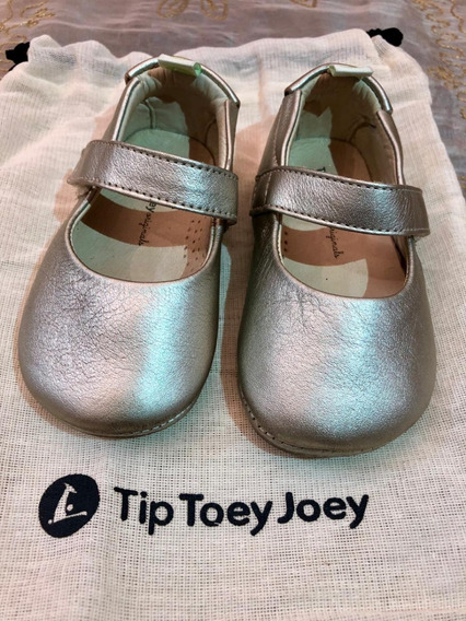 Sapatilha Infantil Dolly Dourado Claro Tip Toey Joey