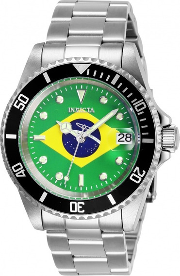 Relógio Invicta Pro Diver Modelo 28699 Bandeira Brasil