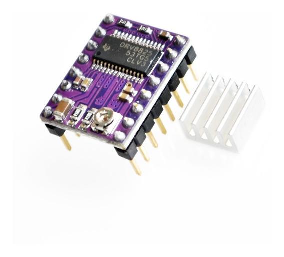 Drive Motor De Passo Drv8825 Cnc Impressora 3d + Dissipador