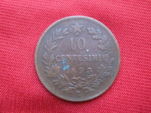 Imagen 1 de 2 de Italia 10 Centesimo 1893