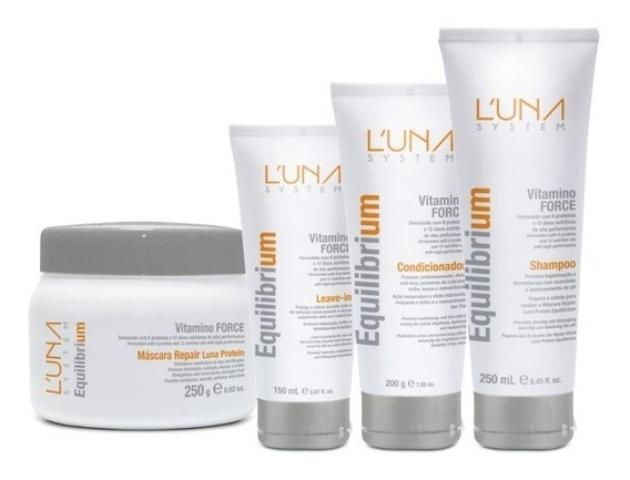 Equilibrium Luna System Vitamino Force . Kit (4 Produtos)