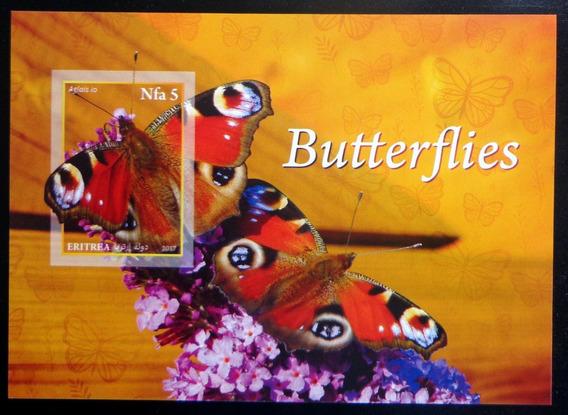 Eritrea Mariposas, Bloque 1 Sello S Dentar 2017 Mint L9875