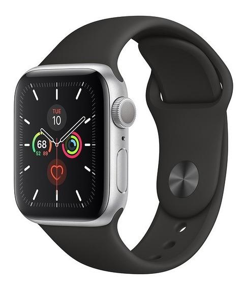Apple Watch Série 5, Alumínio, Pulseira Sport Preta 44mm