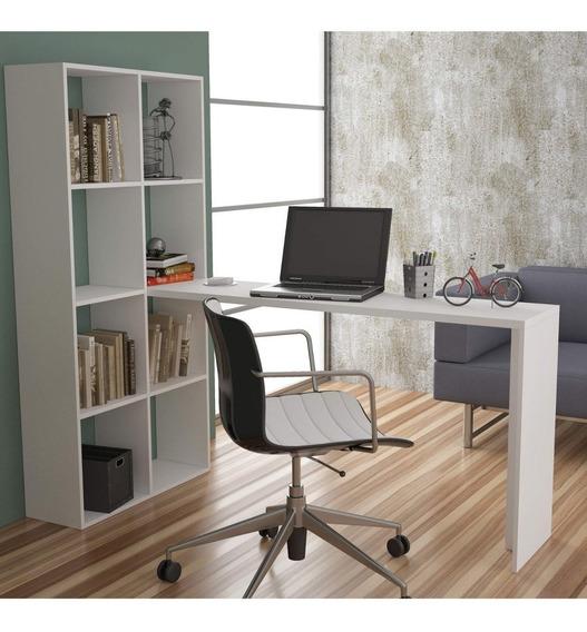 Escrivaninha Estante Be 38 Cube Brv Móveis Branco Fg