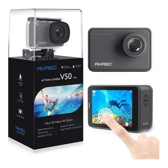 Câmera Akaso V50 Pro Nativo 4k 30fps 20mp + Bolsa+cartão 16g