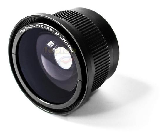 Lente Fisheye Olho De Peixe 55mm P/ Nikon D5600 D5500 D5300