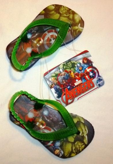 Ojotas Para Niño Avengers / Vengadores Original Marvel Hulk