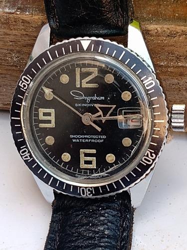 Relógio De Mergulho 1960 A Corda Ingraham = Bretiling Sicura