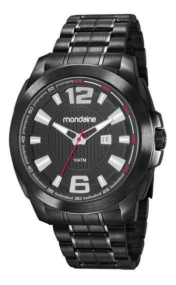 Relógio Masculino Mondaine 83425gpmvps2 50mm Aço Preto