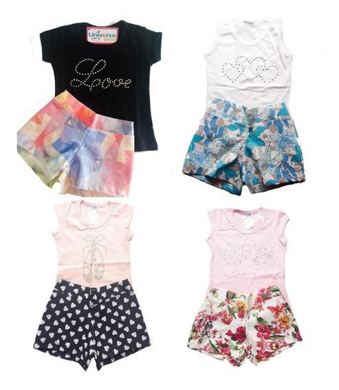 Conjunto Roupa Infantil E Juvenil 1 A 10 Anos Kit Com 10 Pçs