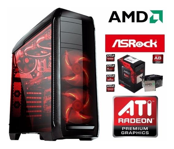 Cpu Gamer Amd X4 Quadcore 4gb Wifi Radeon 8370 Gta5 Lol Bf4