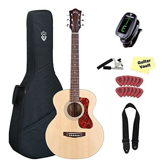 Guild Jumbo Junior Mahogany Electroacúsitca Guitarra Funda Y