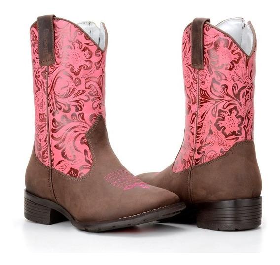 Bota Country Infantil Feminina Couro Legitimo Capelli Boots