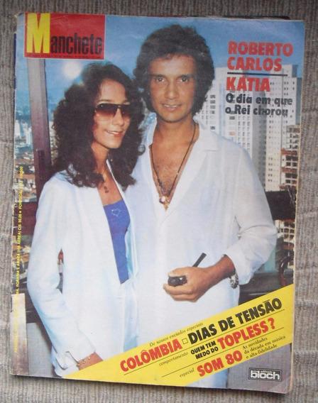 Revista Manchete Com Roberto Carlos E Cantora Kátia 1980