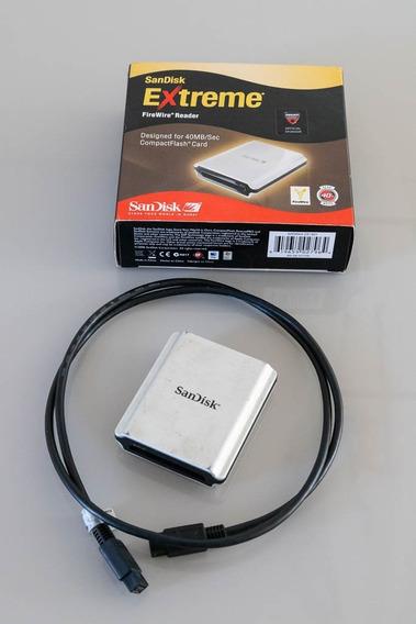 Leitor De Cartão Compact Flash Sandisk Firewire 800