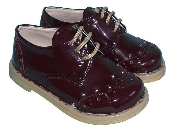 Zapato Acordonado Nena Con Tachas A.maurice