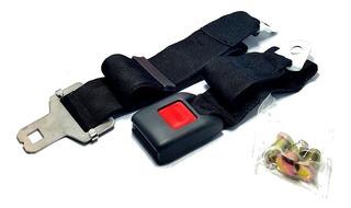 Oferta Cinturon De Seguridad Universal 2 Puntos Color Negro