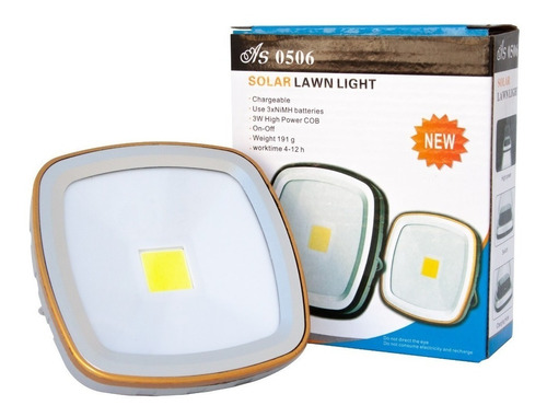 Lámpara Led Solar Usb 5v Recargable Camping Luz
