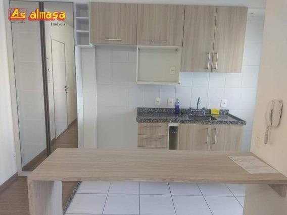 Kitnet Com 1 Dormitório Para Alugar, 30 M² Por R$ 1.400/mês - Inside -gopoúva - Guarulhos/sp - Kn0007