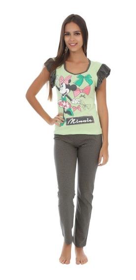Pijama Mujer Minnie Mouse Blusa Pantalon Original 9222