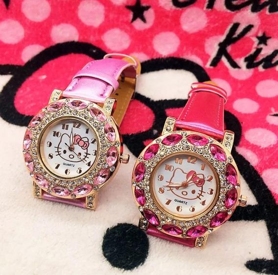 Relógio Hello Kitty Oferta Meninas Pronta Entrega Qualidade