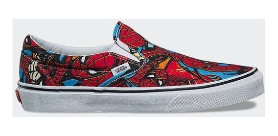Vans Classic Slip-on (marvel) Spiderman/black Importada