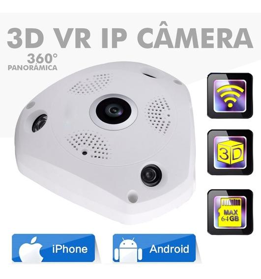 Câmera Panorâmica Ip Segurança 3d Vrcam Hd 1.3mp Wifi 360º