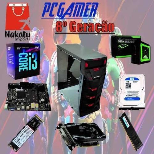 Imagem 1 de 1 de Pc Gamer 8a Geração, Placa De Vídeo Rx550 4gb + I38100+ N