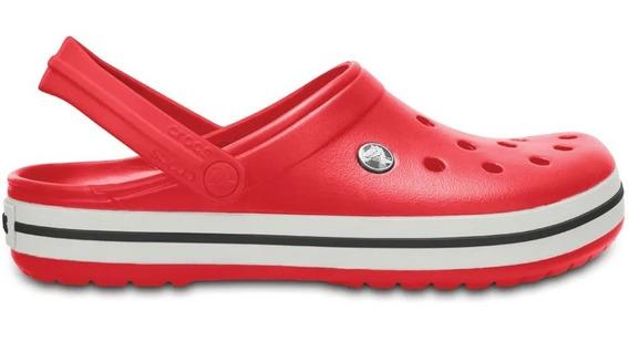 Zuecos Crocs Crocband Roj/bla Unisex