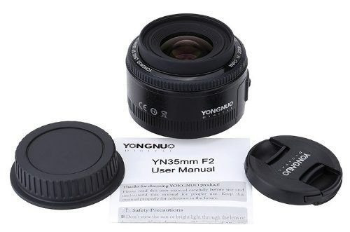 Lente 35mm Yongnuo Para Canon Profissional Fotografia Festas