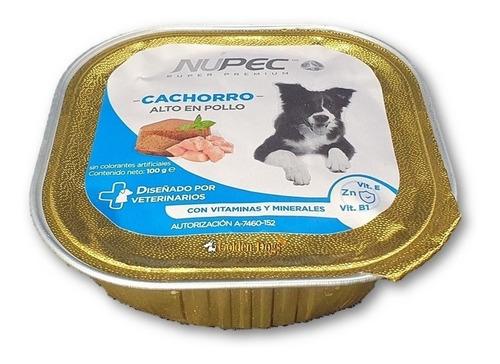 Imagen 1 de 1 de Alimento Nupec Nutrición Científica para perro cachorro de raza mini/pequeña sabor pollo en bandeja de 100g