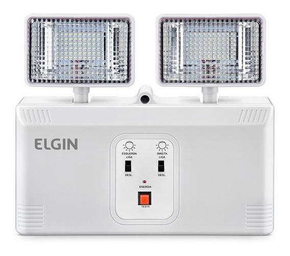 Luminária Luz De Emergência Led 1000 Lumens Faróis Elgin