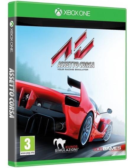 Jogo Assetto Corsa Xbox One Midia Fisica Cd Original Lacrado