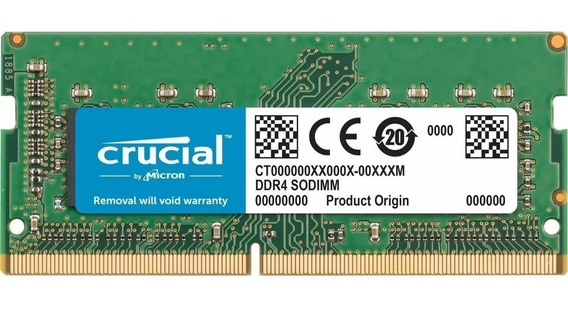 Memoria Sodimm Crucial Ddr3 8gb 1600mhz 1.35v Cuotas S/ Int