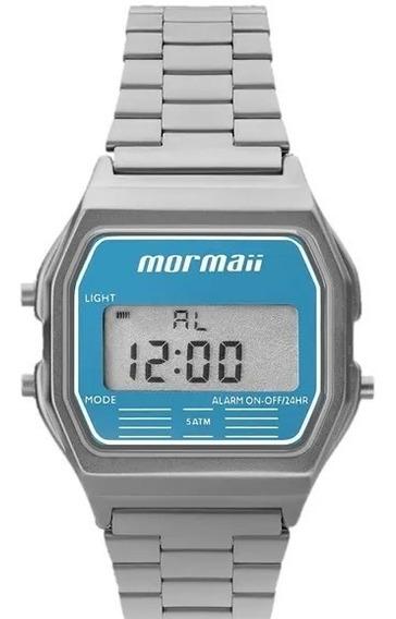 Relógio Mormaii Feminino Quadrado Digital Prata Mojh02az/3a