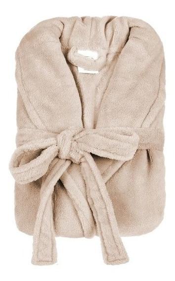 Roupão De Inverno Plush Microfibra Feminino Toque Macio Robe