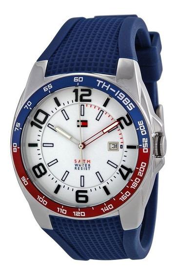 Reloj Tommy Hilfiger Sport Silicón Azul Acero Hombre 1790885