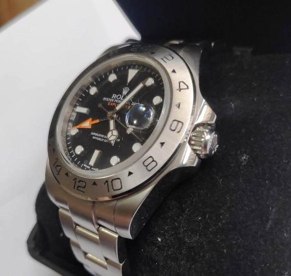 Relógio Explorer 2 Luxo Importado Aço Automático Safira 42mm