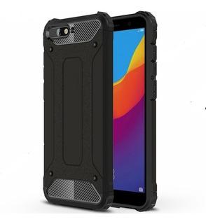 Funda Case Huawei Y6 Uso Rudo 2018 + Cristal Templado