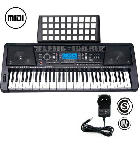 Teclado Musical Organo Electrico T04 61 Teclas Lcd Midi