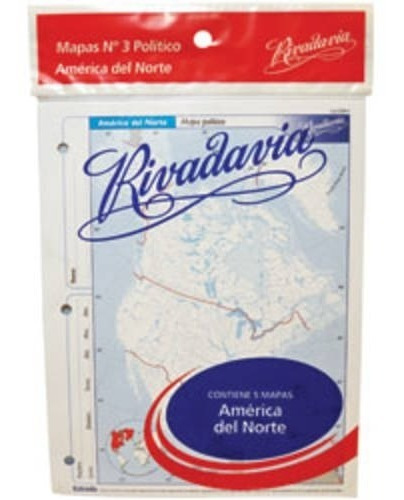 Kit X 5 Mapas America Del Norte. N°3 Político