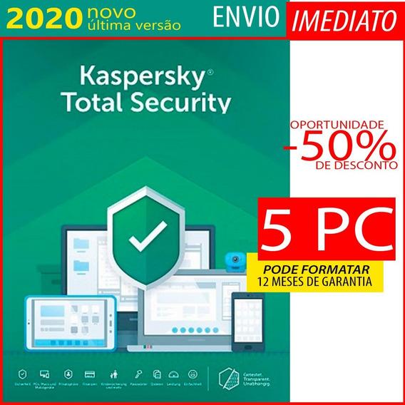 Kaspersky Total Security 5 Pc 1 Ano Envio Imediato