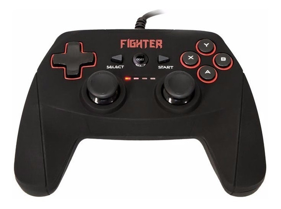 Controle Dazz Dualshock Fighter P/ Pc & Ps3 Usb 623397 + Nfe